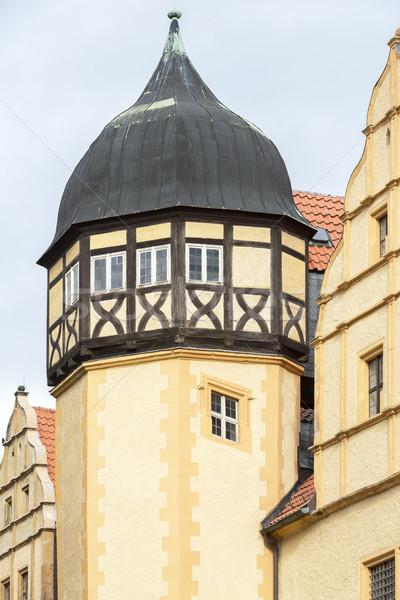 Hagyma alakú torony öreg ház város Stock fotó © haraldmuc