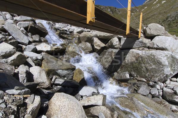 Kicsi híd hegy folyam Olaszország víz Stock fotó © haraldmuc