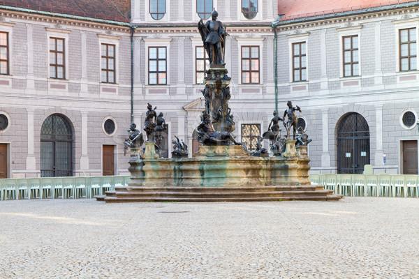 Dentro edificios Munich Alemania histórico ventana Foto stock © haraldmuc
