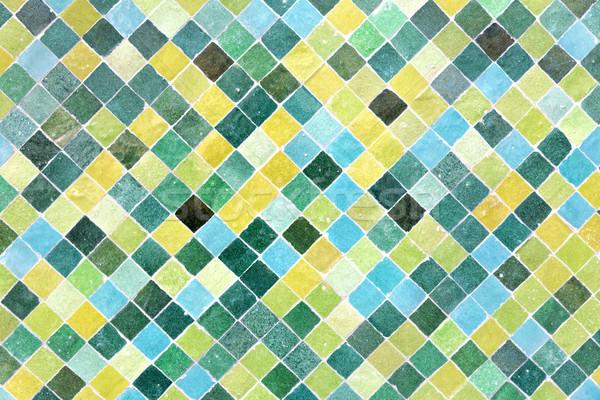 Moroccan floor mosaic Stock photo © haraldmuc