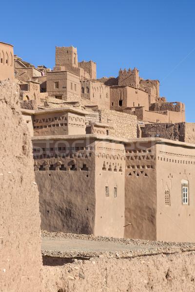 Ancient Ait Benhaddou in Morocco Stock photo © haraldmuc