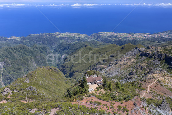 üst dağ madeira manzara mavi seyahat Stok fotoğraf © haraldmuc