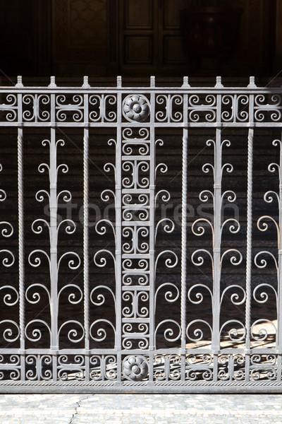 Wrought iron door in Italy Stock photo © haraldmuc
