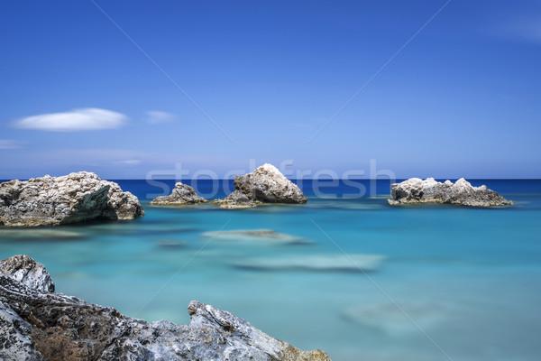 Kövek tenger Görögország kitettség tájkép háttér Stock fotó © haraldmuc