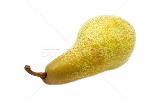 Olgun armut yalıtılmış beyaz doğa meyve Stok fotoğraf © haraldmuc