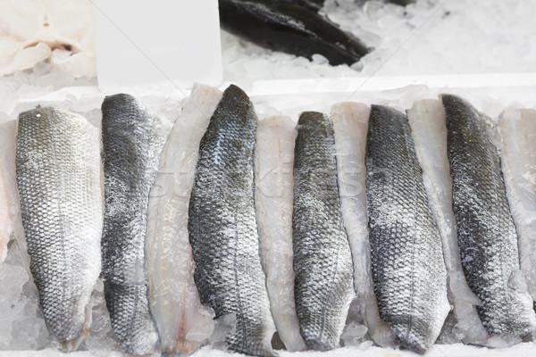 Taze deniz bas buz gıda balık Stok fotoğraf © haraldmuc