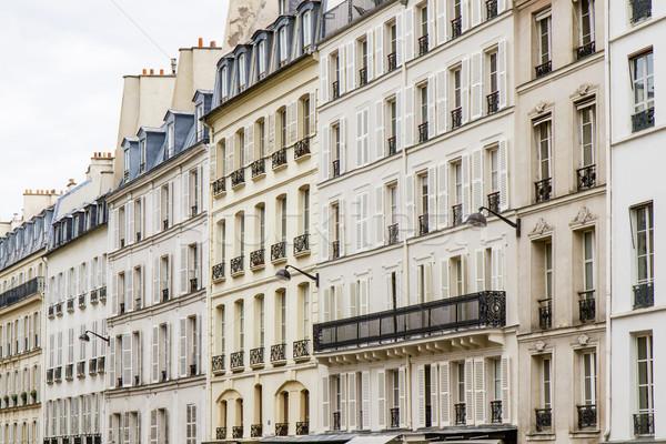 Typical parisian architecture, France Stock photo © haraldmuc
