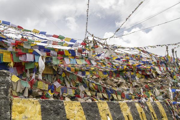 Tibetan prayer flags in Ladakh, India Stock photo © haraldmuc