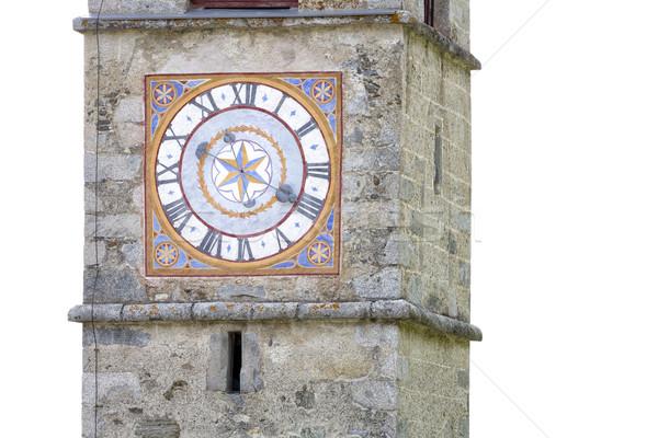 歴史的 教会 クロック イタリア 旅行 都市 ストックフォト © haraldmuc