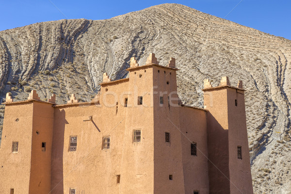 Ancient casbah building, Morocco Stock photo © haraldmuc