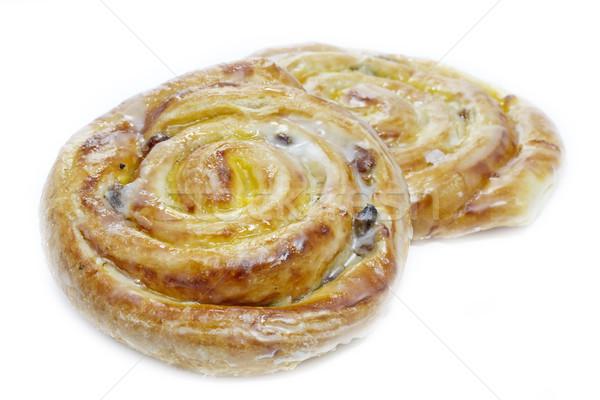 Sütemények mazsola vanília cukor cukormáz fehér Stock fotó © haraldmuc