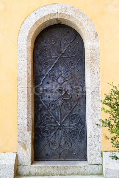 Antique wooden door in Italy Stock photo © haraldmuc