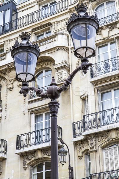 металлический ретро Париж Франция дома свет Сток-фото © haraldmuc