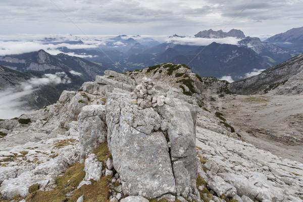 ősz kirándulás Alpok Európa nyár utazás Stock fotó © haraldmuc
