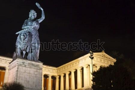 Historic Bavaria statue in Munich at night Stock photo © haraldmuc