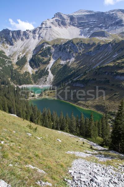 Hiking in the bavarian alps, Germany Stock photo © haraldmuc