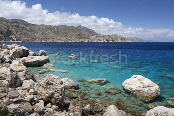 Coastline on Karpathos island, Greece Stock photo © haraldmuc