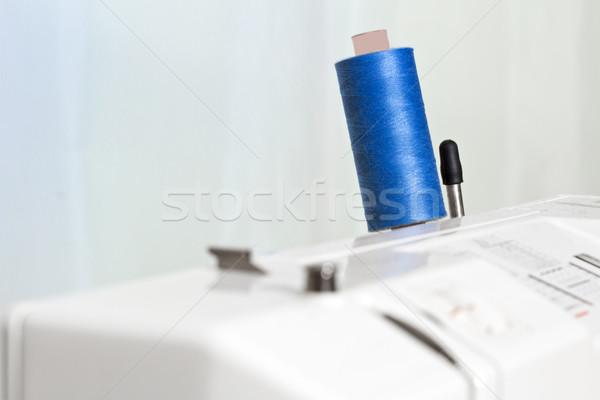 Dikiş iplik dikiş makinesi sığ moda Stok fotoğraf © haraldmuc