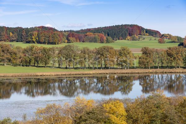 Lake 'Egglsee' in Bavaria, Germany, in autumn Stock photo © haraldmuc