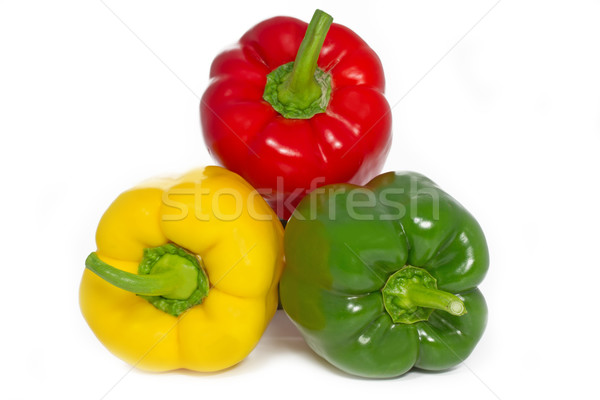 Papryka papryka biały trzy całość owoców Zdjęcia stock © haraldmuc