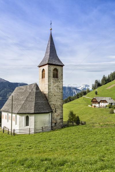 Small church in South Tyrol, Italy Stock photo © haraldmuc
