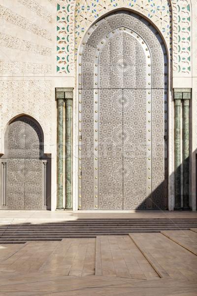 Távolkeleti ajtók mecset Casablanca épület utazás Stock fotó © haraldmuc