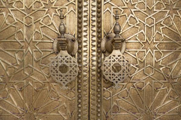 Porta pormenor Marrocos norte África Foto stock © haraldmuc