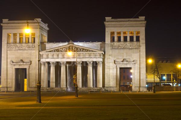 Munique Alemanha noite escuro arquitetura mármore Foto stock © haraldmuc
