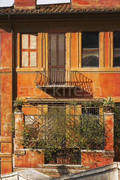 Pittoresque façade résidentiel maison Rome Italie Photo stock © haraldmuc