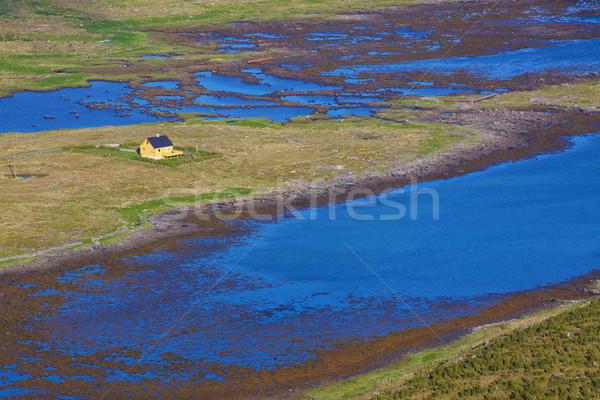 Lone house in marshes Stock photo © Harlekino
