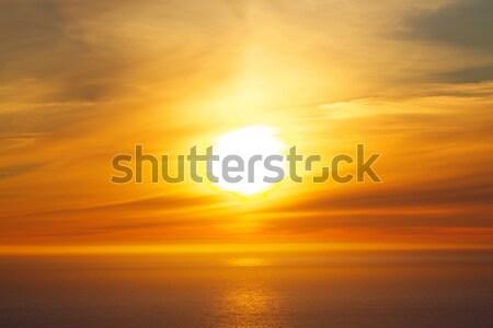 полночь солнце ярко океана Норвегия Сток-фото © Harlekino