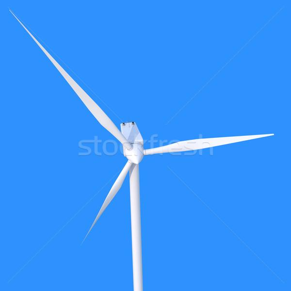 Vento potere generatore blu elettrica clean Foto d'archivio © Harlekino