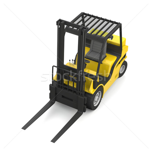 Yellow forklift Stock photo © Harlekino