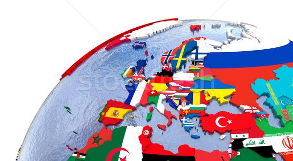 Politico Europa mappa paese modello mondo Foto d'archivio © Harlekino