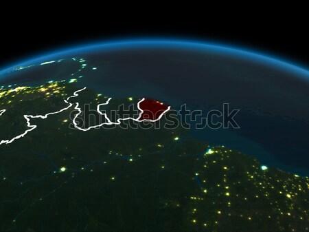 Карибы пространстве красный 3d иллюстрации подробный Сток-фото © Harlekino