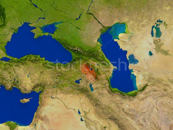 アルメニア スペース 赤 表示 軌道 3次元の図 ストックフォト © Harlekino
