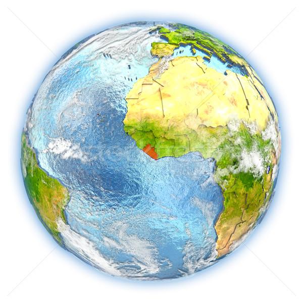 Liberia terra isolato rosso pianeta terra illustrazione 3d Foto d'archivio © Harlekino