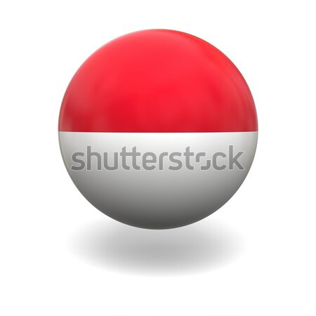 Монако флаг сфере изолированный белый графика Сток-фото © Harlekino