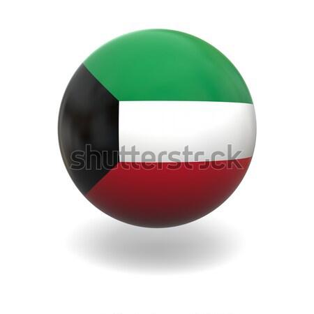 Кувейт флаг сфере изолированный белый графика Сток-фото © Harlekino