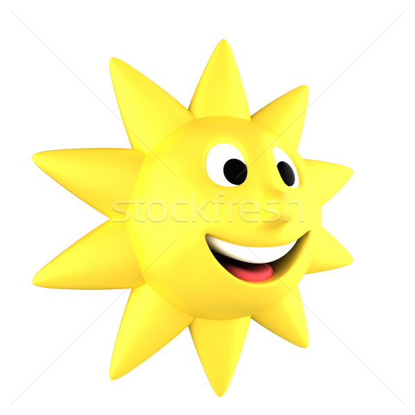 Yellow sun smiling Stock photo © Harlekino
