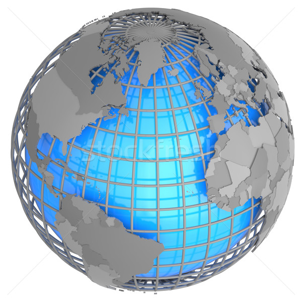 Atlantic Ocean on the globe Stock photo © Harlekino