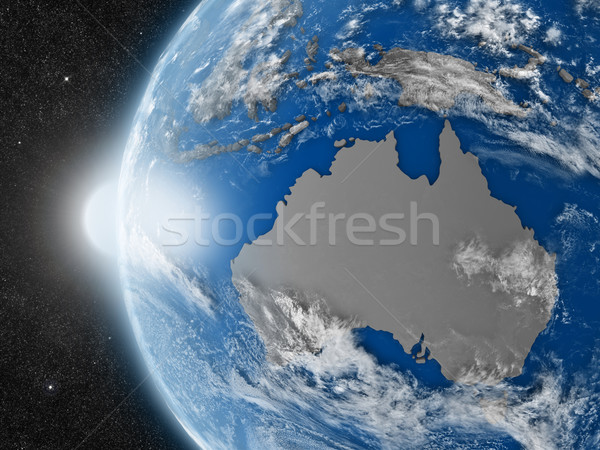 Australiano continente espacio planeta tierra político Foto stock © Harlekino