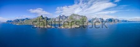 Panorama of Lofoten islands Stock photo © Harlekino