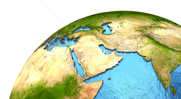 Middle East region on Earth Stock photo © Harlekino