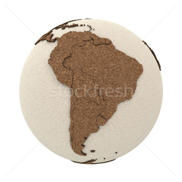 América del sur luz tierra 3D modelo planeta tierra Foto stock © Harlekino
