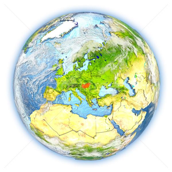 Ungheria terra isolato rosso pianeta terra illustrazione 3d Foto d'archivio © Harlekino