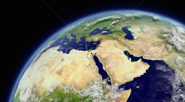 Orta Doğu uzay atmosfer bulutlar elemanları görüntü Stok fotoğraf © Harlekino