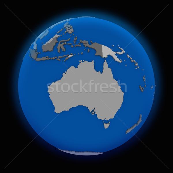 Avustralya siyasi toprak dünya siyah harita Stok fotoğraf © Harlekino