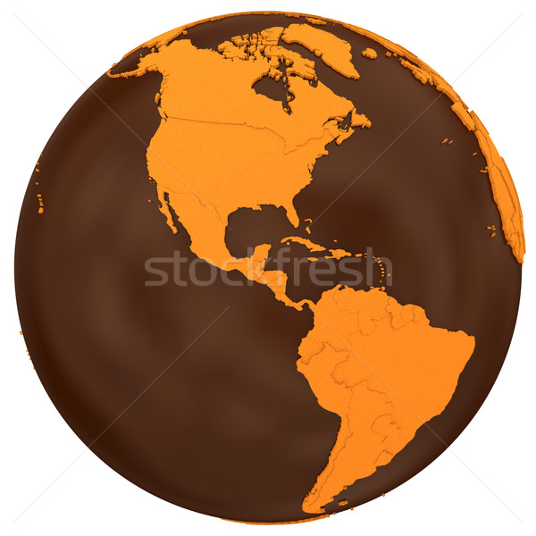 Americas on chocolate Earth Stock photo © Harlekino