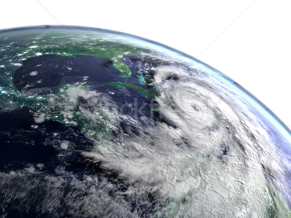 Hurricane Matthew catastrophe Stock photo © Harlekino